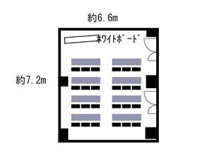 本町・センタービル2号室 レイアウト図