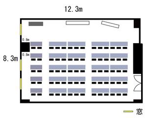 本町・カーニープレイス4F レイアウト図