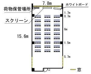 四ツ橋・近商ビル6A レイアウト図