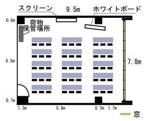 四ツ橋・近商ビル7A レイアウト図