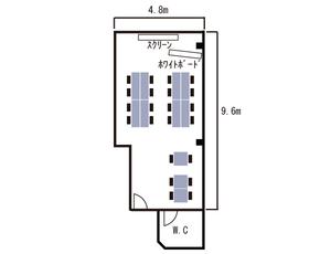 心斎橋・サンカフェ2F レイアウト図