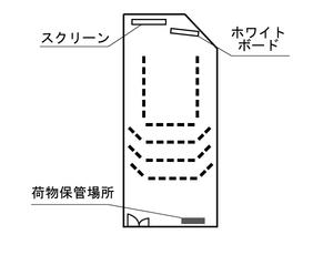 四ツ橋・サンワールドビル2号室 レイアウト図